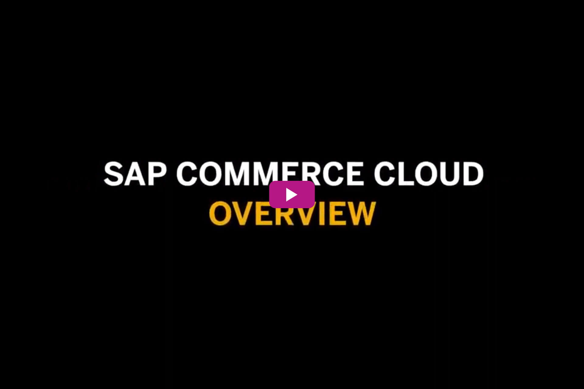 Vorschaubild für das Video SAP Commerce Cloud Overview
