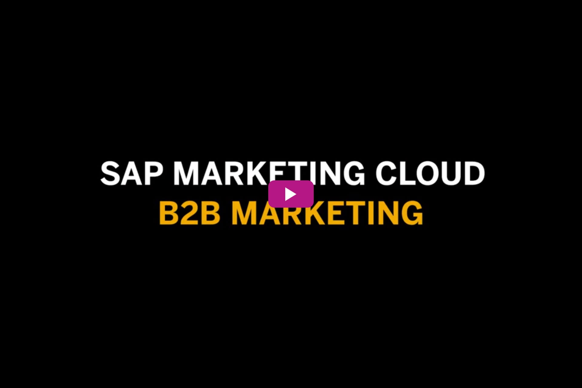 Vorschaubild für das Video SAP Marketing Cloud B2B Marketing
